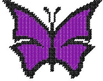 Abstract Butterfly Plastic Canvas Pattern