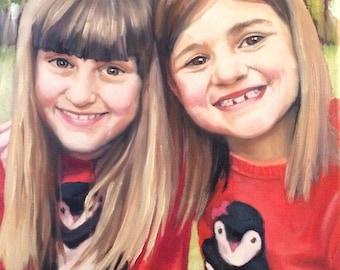 Custom Portrait Paintings // Hand Painted // Oil or Acrylic on Canvas