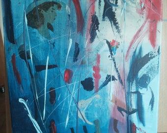 Abstract, acrylic, woman