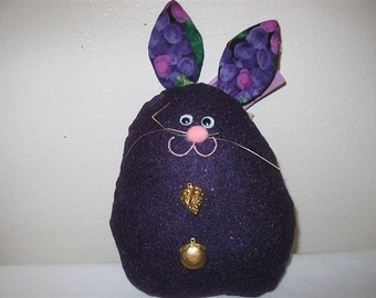 Felt Easter Bunny in Purple Glitter  #E-122