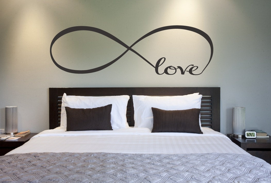 Interior Designs For Bedroom Walls love infinity symbol bedroom wall decal decor love