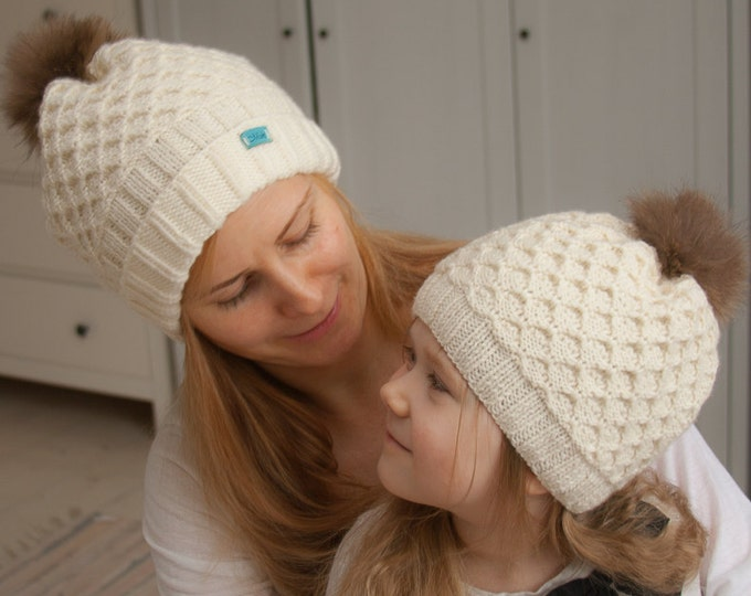 KNITTING PATTERN slouchy or beanie hat Merily  (baby, toddler, child, woman sizes)