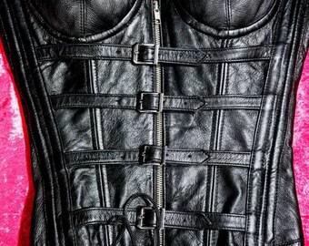 Alter Ego Black Leather Corset