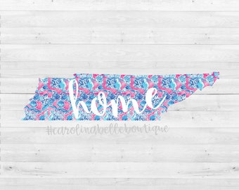 Lilly Pulitzer Tennessee state decal
