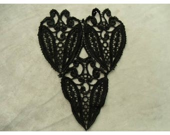 EMBROIDERED BLACK INLAY