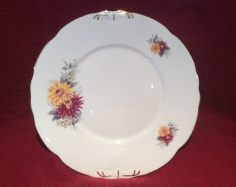 "Royal Stafford Dahlia Cake or Sandwich Plate 9 3/8"" Diameter"