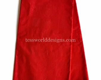 Red African fabric/ Ghana Fabric/ African fabric per yard/ Ghanaian fabrics/ Ankara clothing/ Fabric from Ghana/ Kofi Korbri WP1150B
