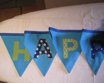 Pennant banner happy birthday