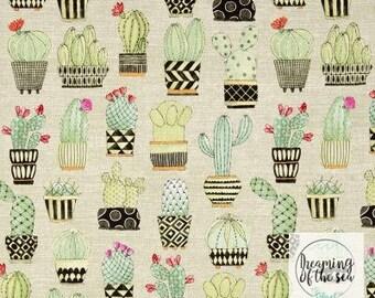 Michael Miller Cactus Hoedown Tan Fabric // Quilting Cotton // Cotton Woven // 100% cotton // Cactus Fabric