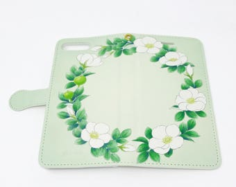 Cell Phone Case - Rose / Sky Green