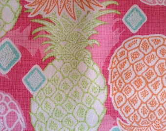 One Yard of Fabric Material - Pineapple Collage Pink
