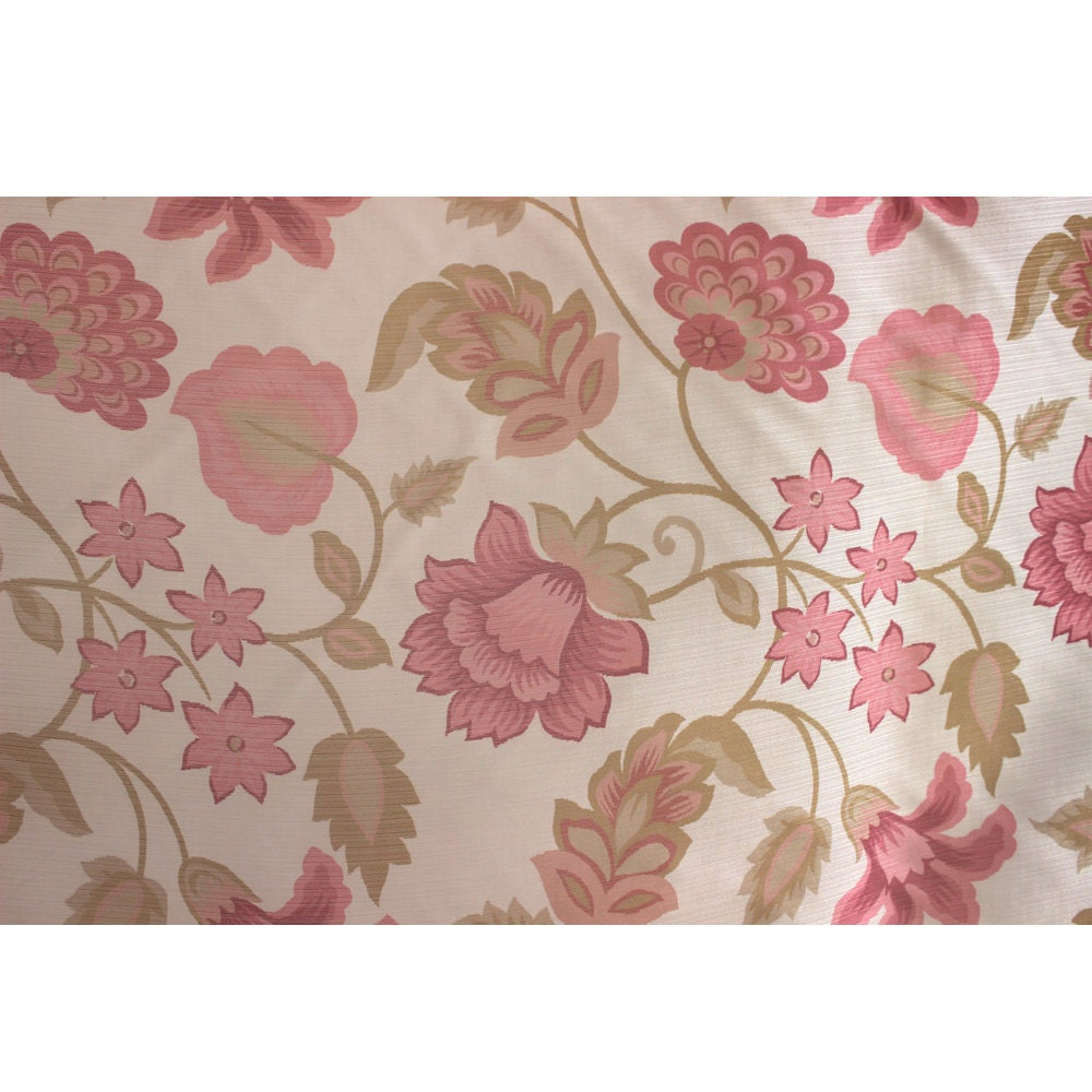 Pink Floral Garden Printed Sheer Curtain Fabric Window Treatment Fabric  Grommet Curtain Shower Curtain Fabric Modern Fashion Fabric From FabricMart  On Etsy ...