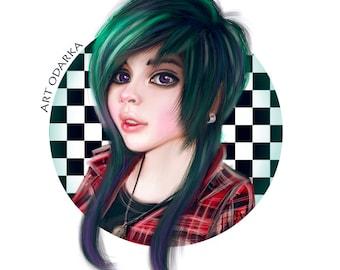 Custom digital portrait, cartoon Portrait, digital drawing, print, portrait from photo, personalized portrait, custom avatar