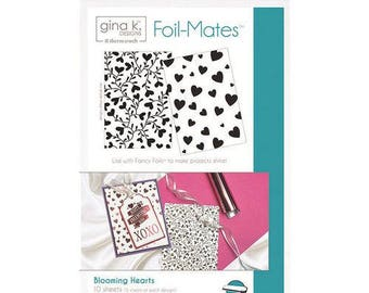 Therm O Web - Foil-Mates - 5.5 x 8.5 - Background - Blooming Hearts