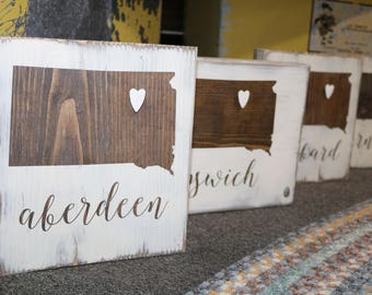 """Customized """"Home Is Where the Heart Is"""" Wooden Sign"""