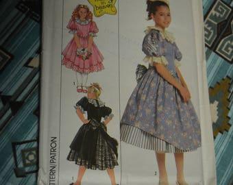 Simplicity 9381  Girls Dress and Petticoat Sewing Pattern - UNCUT - Size 10