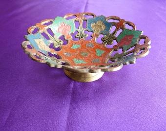 Enamelled Brass Dish