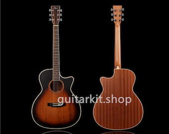 41 inch Acoustic / Solid Paulownia top / Sapele back and sides/ Acoustic guitar (GTS-906)