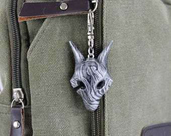 Kindred Wolf Mask League of Legends Aluminum LOL Kindred Keychain/Necklace