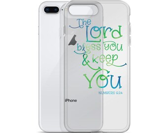 Bible Verse iPhone Case, The Lord Bless You and Keep You iPhone Case, Numbers 6:24 iPhone Case, Scripture iPhone Case, Bless iPhone Case