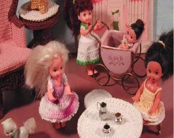Crochet Fashion Doll Kelly & Krissy Pattern- #222 DOLLY PLAYTIME
