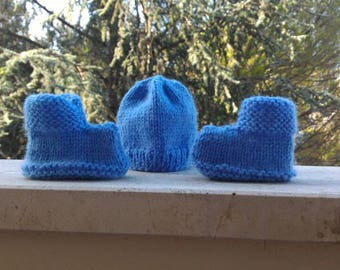 Baby Shoes and Cap Set
