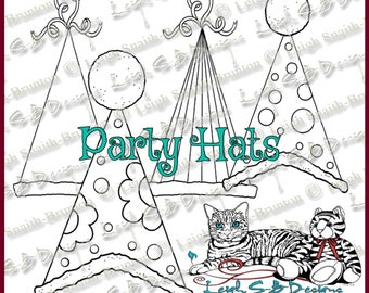 NEW - Party Hats Pack of 4 fun & festive Hats perfect for any ocassion!