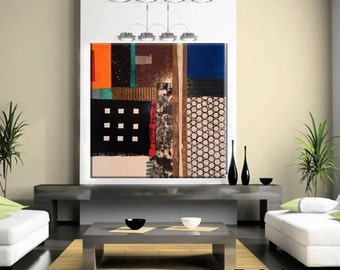 SALE!!!  Large Mixed Media Collage Painting by Kim Bosco