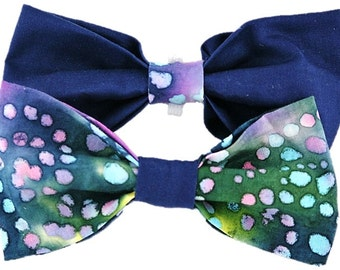 Indigo Watercolor - Dog bow-tie|Unique polka dot|Hipster|Gifts for dogs and dog lovers