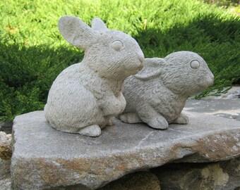 Rabbit Statues, Garden Rabbits, Garden Bunnies, Concrete Rabbits, Rabbit Garden Decor, Cement Rabbits, Rabbits For Garden Art, Bunny Rabbits