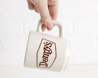 Vintage Dennys Restaurant Coffee Mug, Speckled Stoneware Mug with Handle