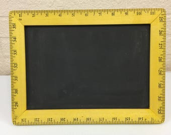Ruler Framed Chalkboard Sign  Standing  Table Top Chalk Board Multiple Colors
