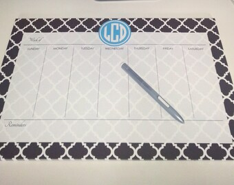 Personalized Weekly Desk Planner- 53 Pages- Design your Own- 11x17 Desk Calendar