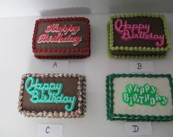 1:6 scale Birthday  cake  for Barbie, Ginny, Fashion Royalty, Blythe, or Momoko, Tyler, Poppy Parker