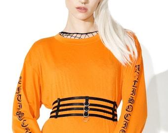 Waist Elastic Cage Belt. Ring Harness