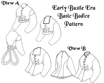 Early Bustle Era Bodice Patern