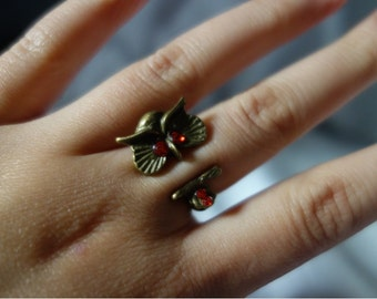 Bronze Owl Adjustable Ring CLOSING DOWN SALE