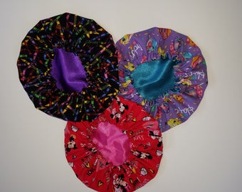 Toddler Sized Hair Bonnets -Sleep Bonnet -Night Cap -Hair Protection