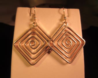 Retro Chic Sterling Silver Earrings