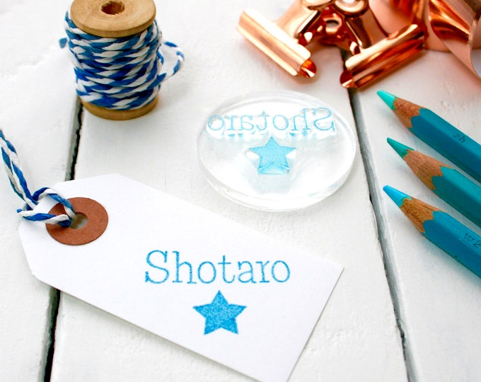 Personalised name stamp - Name Stamp - Christmas Name Stamp - Child's Stamp - Christmas Present - Clear Stamp - Stocking Filler - Stamp