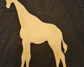Giraffe Wood Cutout, Laser Cut, Zoo Animal Shaped, DIY Unfinished, Crafters, Paint Your Own by Liahona Laser on Etsy