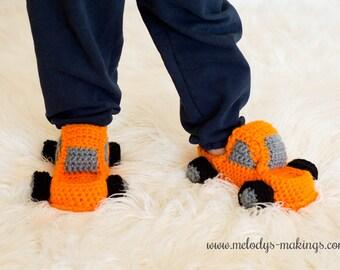 Little Boy Slippers Crochet Pattern - Baby Boy Shoes Crochet Pattern - Boy Shoes Crochet Pattern - Monster Truck Crochet Pattern
