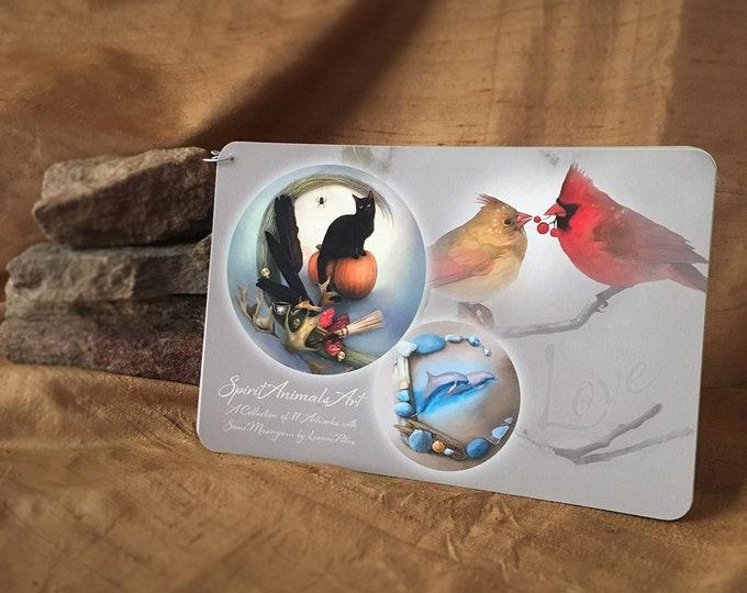 Featured listing image: Art Booklet - Spirit Animal Art - Cat Art - Bird Art - Dolphin Art - Tortoise Art - Fox Art - Frog Art - Duck Art - Deer Art - Wolf Art