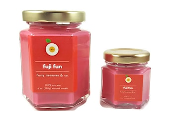 Fuji Fun, Candle, Macintosh Apple, 6oz, 1.5oz, Soy candle, Soy wax, Handmade candle, Hand poured, Summer, Fruity, Gift for her, Decor, Home