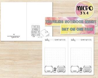 Printable Micro Travelers Notebook Insert - Printable TN Insert - Printable Planner Insert - TN Insert - DO1P Insert - Micro Insert