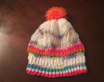 Knit Hat Woman Colorful Beanie