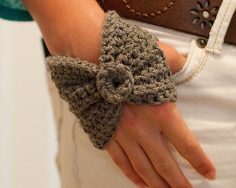 Crochet Wrist Warmers - Fingerless Gloves