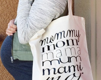 Tote Bag - Mommy Tote - gift - personalize tote - Christmas gift