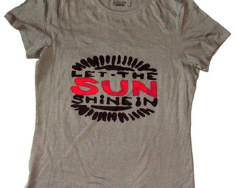 Vintage sun shine in t-shirt.
