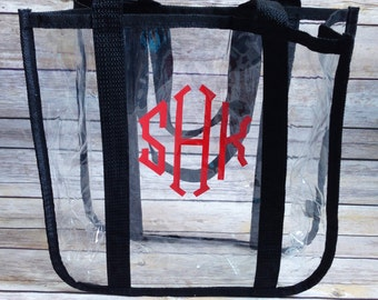Stadium Approved Clear Tote, Monogrammed Clear Tote, Clear Tote